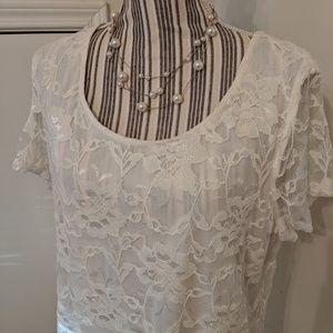 Isaac Mizrahi women's lace top